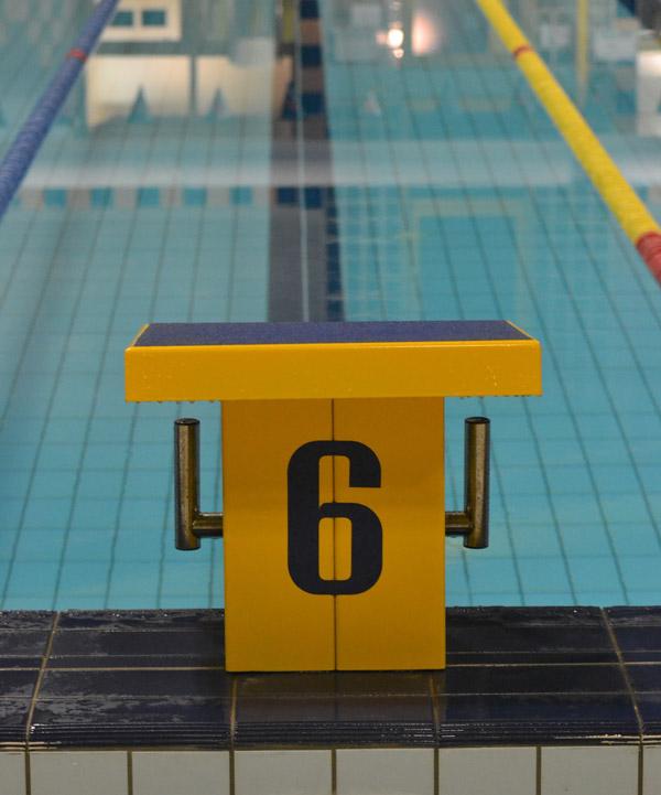 Svømmebane før stævne