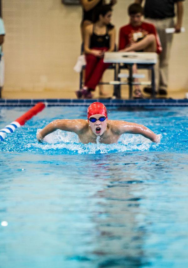 Svømmer til svømmestævne