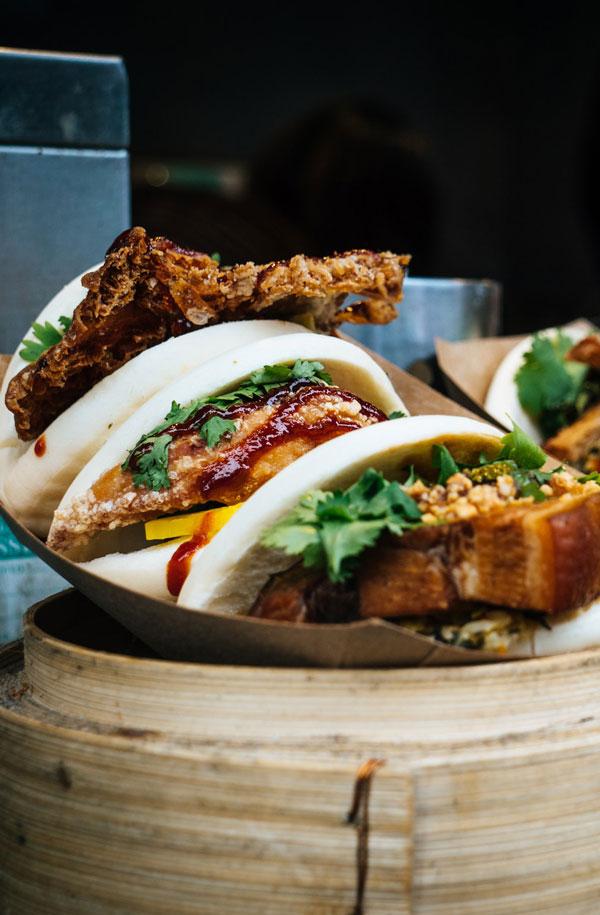 Asiatisk mad flot anrettet