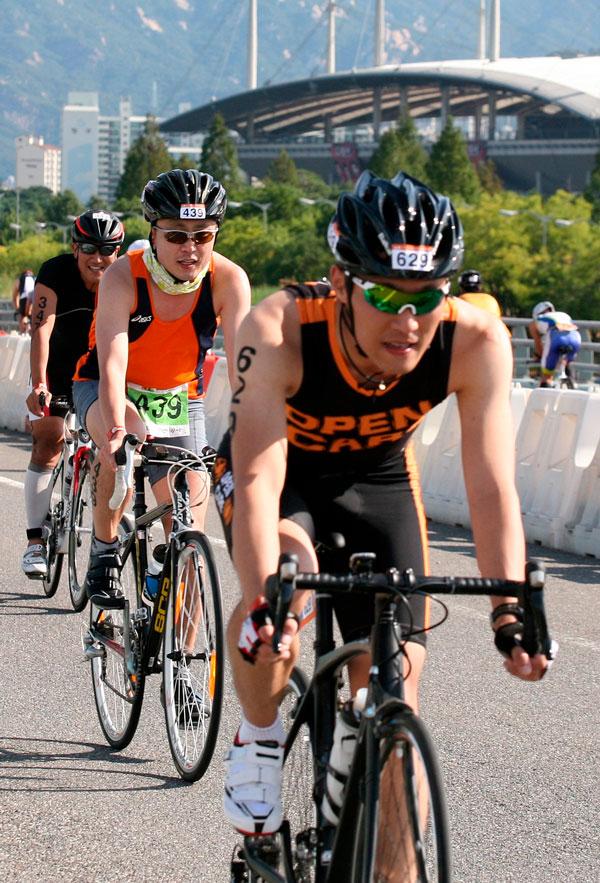 Ironman cykelryttere