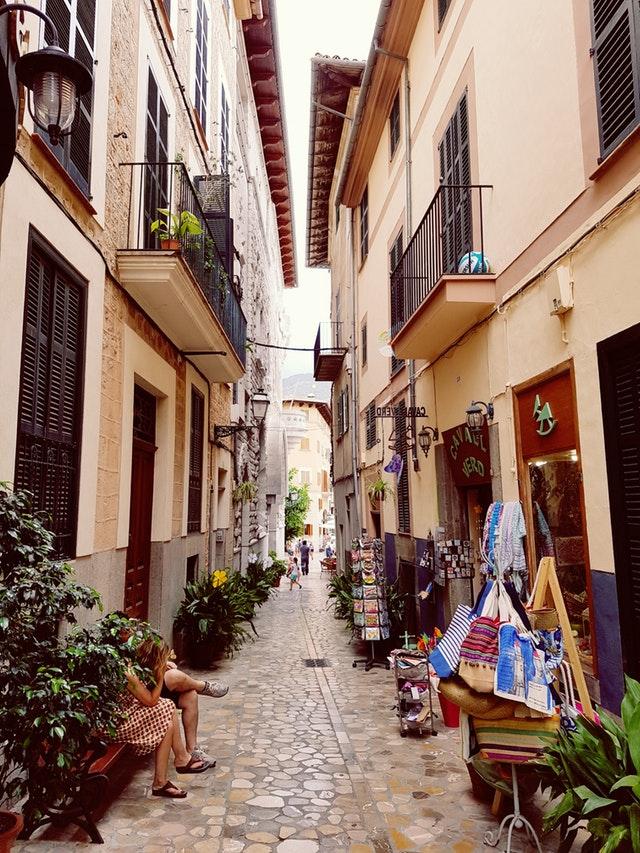 Smal gade i Spanien