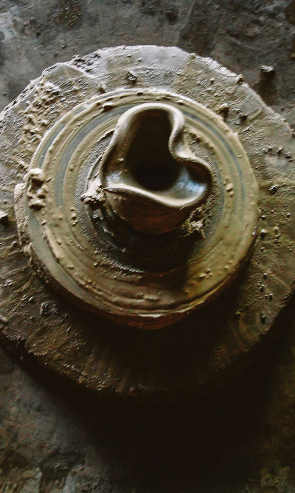 Keramik hjerte i ler