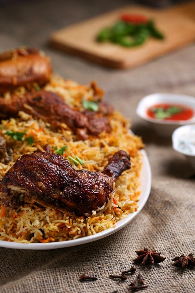 Kylling i ris