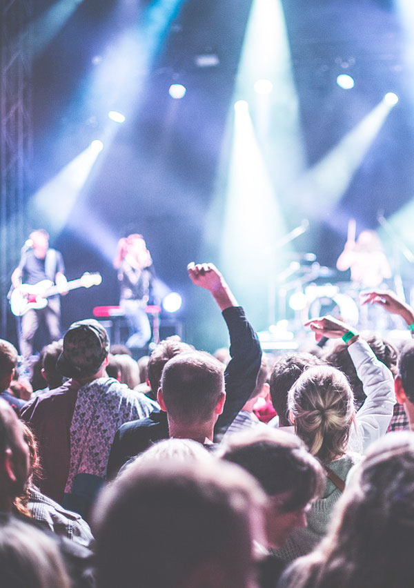 Rock koncert på festival